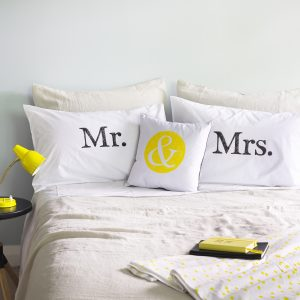 mr & mrs pillowcase set
