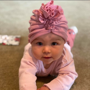 pink baby headwrap