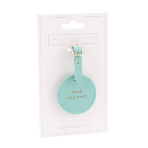 Mint luggage tag