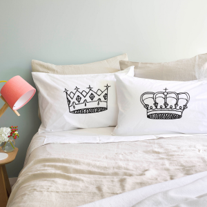 King & Queen pillowcase se